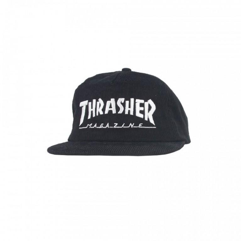 Кепка Thrasher Corduroy Snapback Black