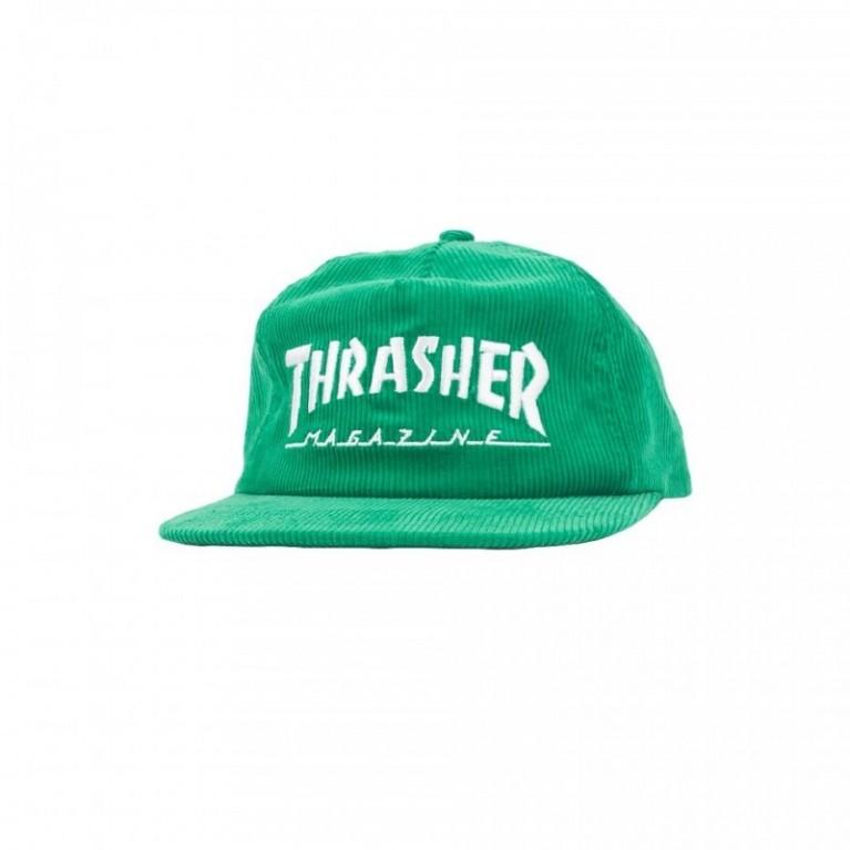 Кепка Thrasher Corduroy Snapback Green