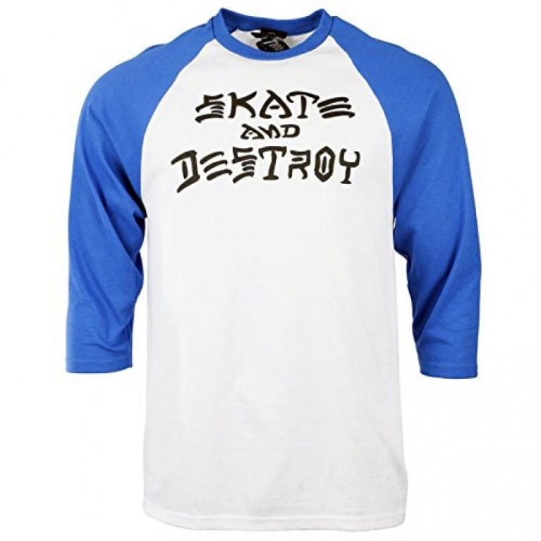 Реглан Thrasher Skate and Destroy Raglan White/Blue