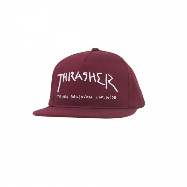 Кепка Thrasher New Religion Snapback Maroon