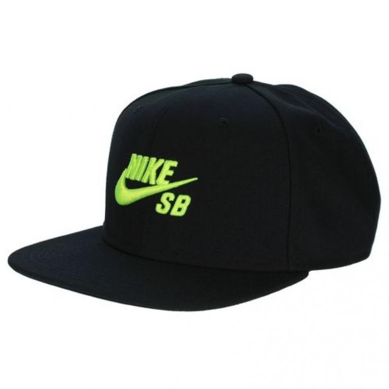 Кепка Nike Sb Icon Snapback Cap Black/Black/Volt