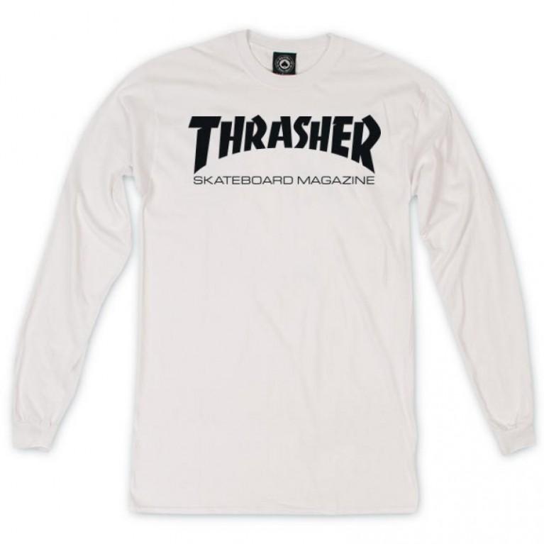 Лонгслив Thrasher Skate Mag White