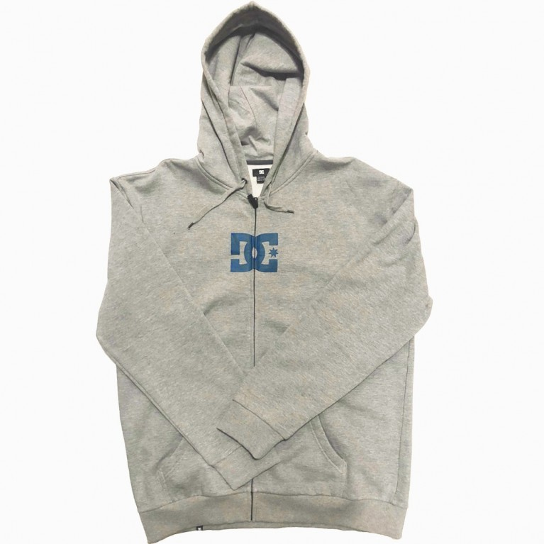 DC толстовка SOLOSTAR FZ HOODED FULLZIP HEATHER GREY