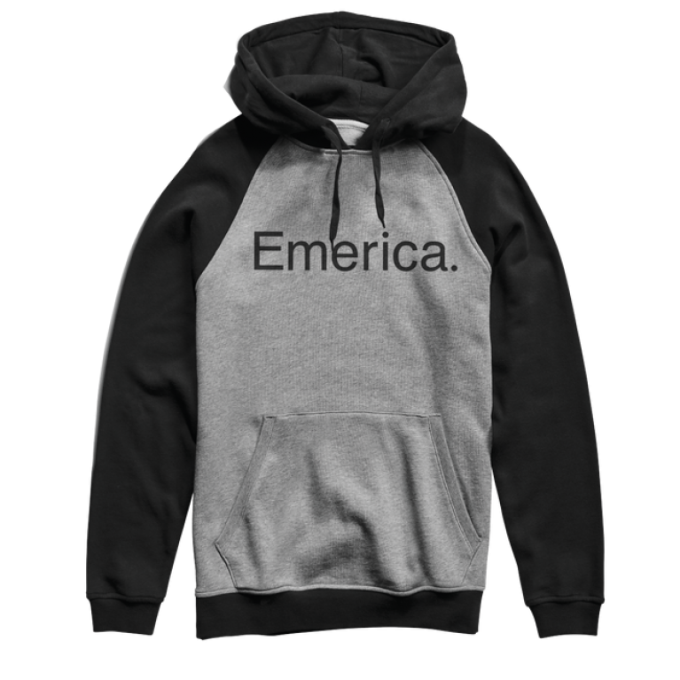 Толстовка emerica purity po hood - black/grey