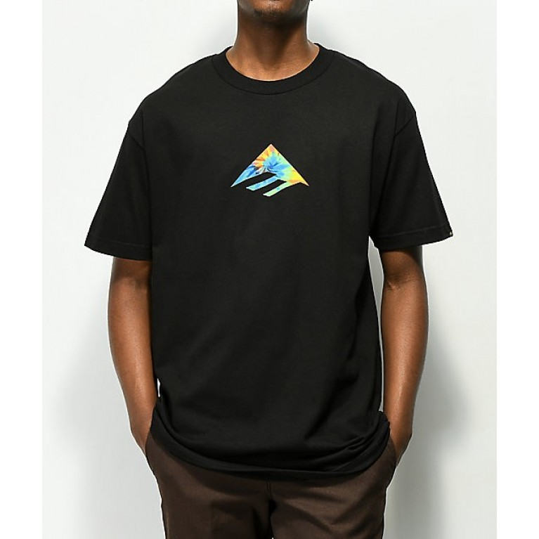 футболка Emerica Triangle - black/print