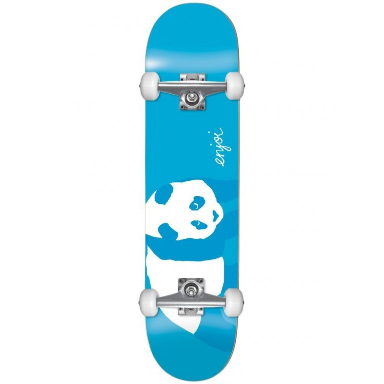 Cкейтборд в сборе Enjoi SS19 Blue Panda Resin Soft Wheels Neon Blue 8.0