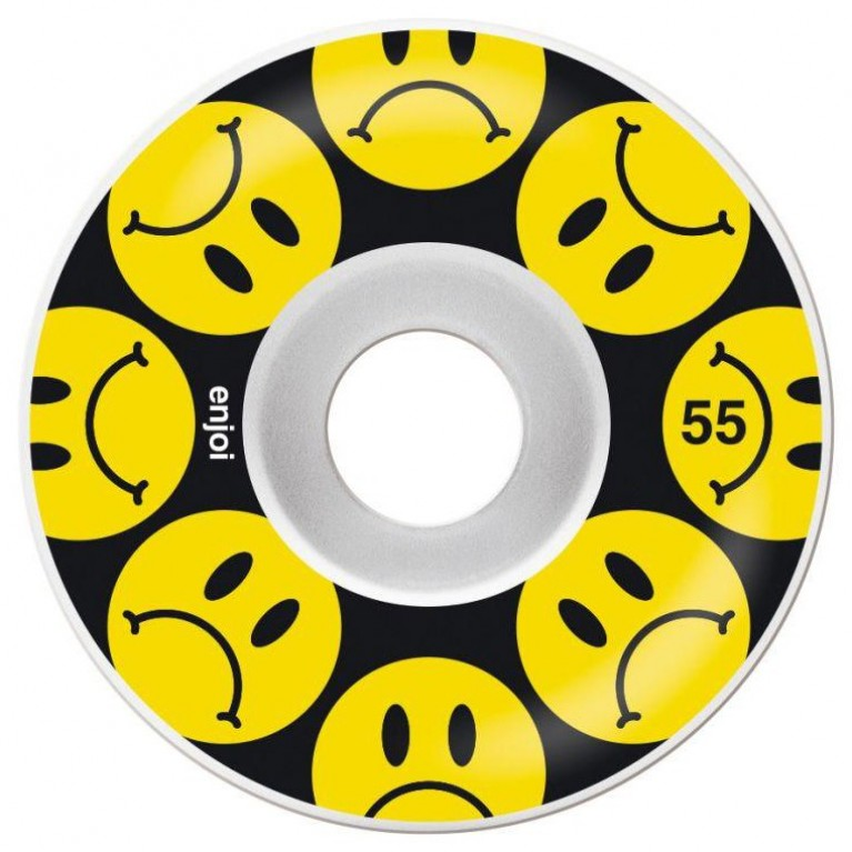 Колеса enjoi frowny wheel black/yellow 55mm