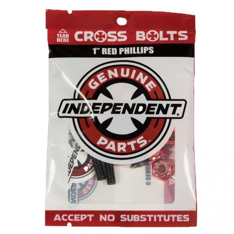 Винты Independent Phillips Hardware 1 in Black/Red