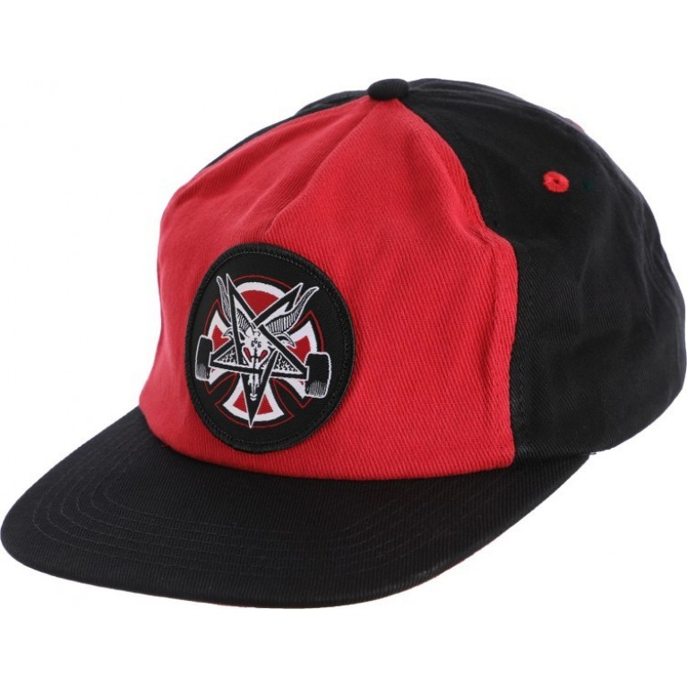 бейсболка independent x thrasher pentagram cross adjustable snapback hat