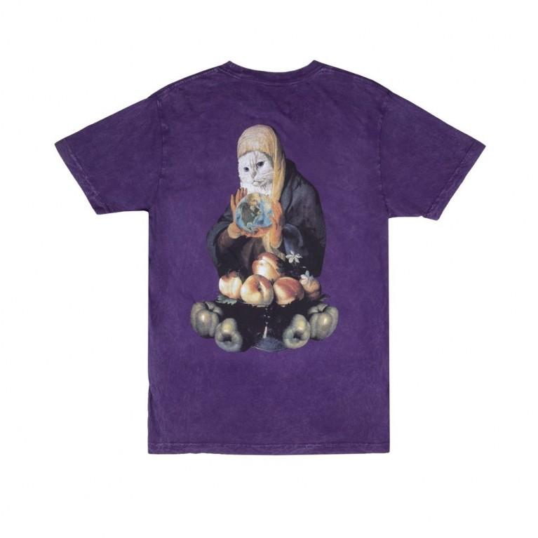Футболка Ripndip World On Fire Tee Purple Mineral Wash
