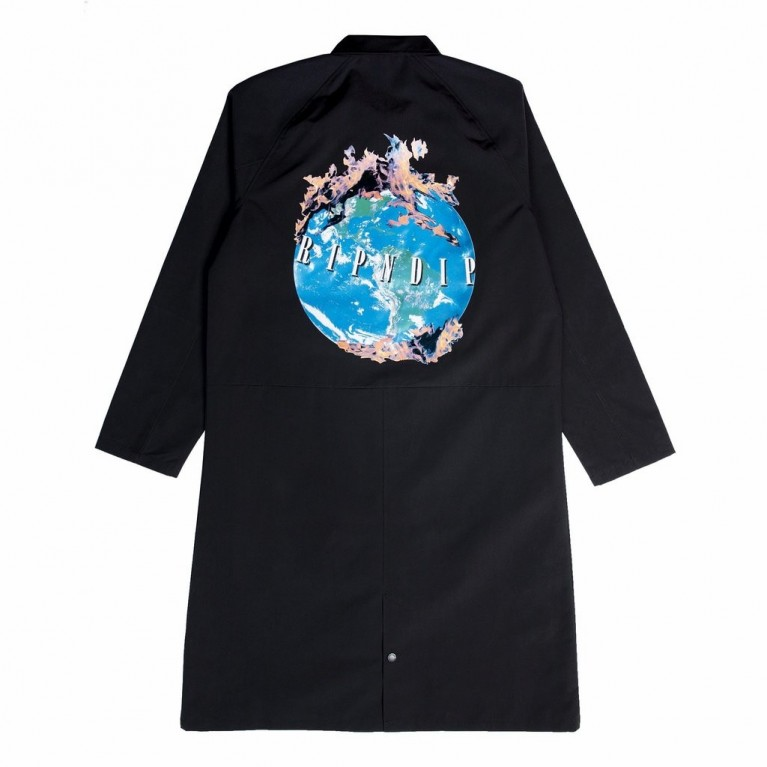 Пальто Ripndip World On Fire Trench Coat Black