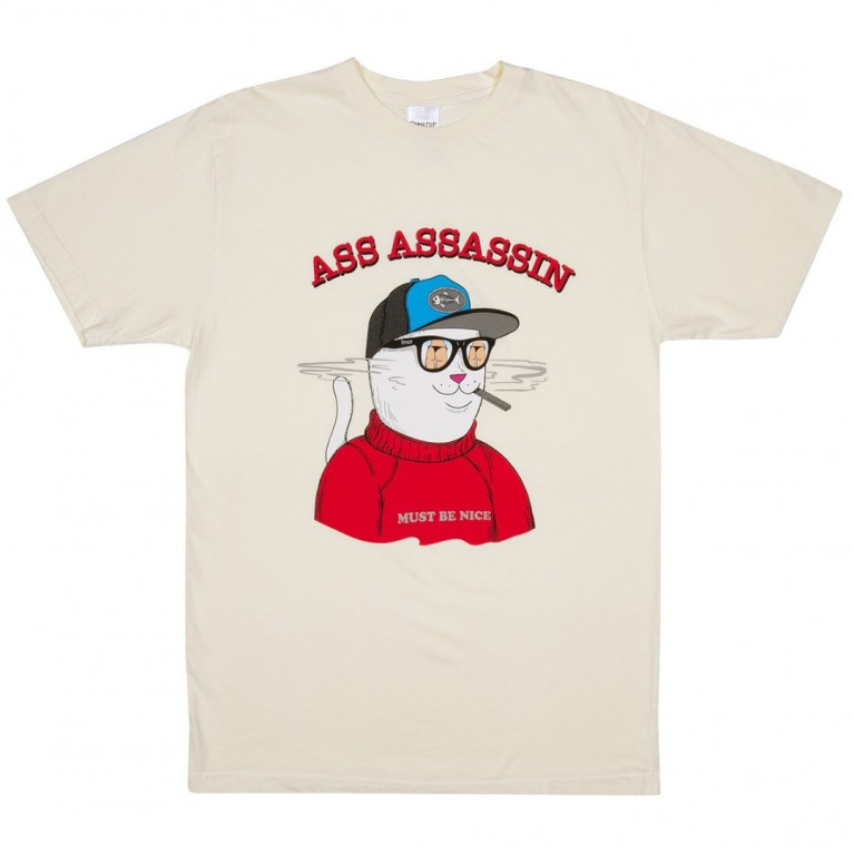 Футболка Ripndip Ass Assasin Tee Vintage White