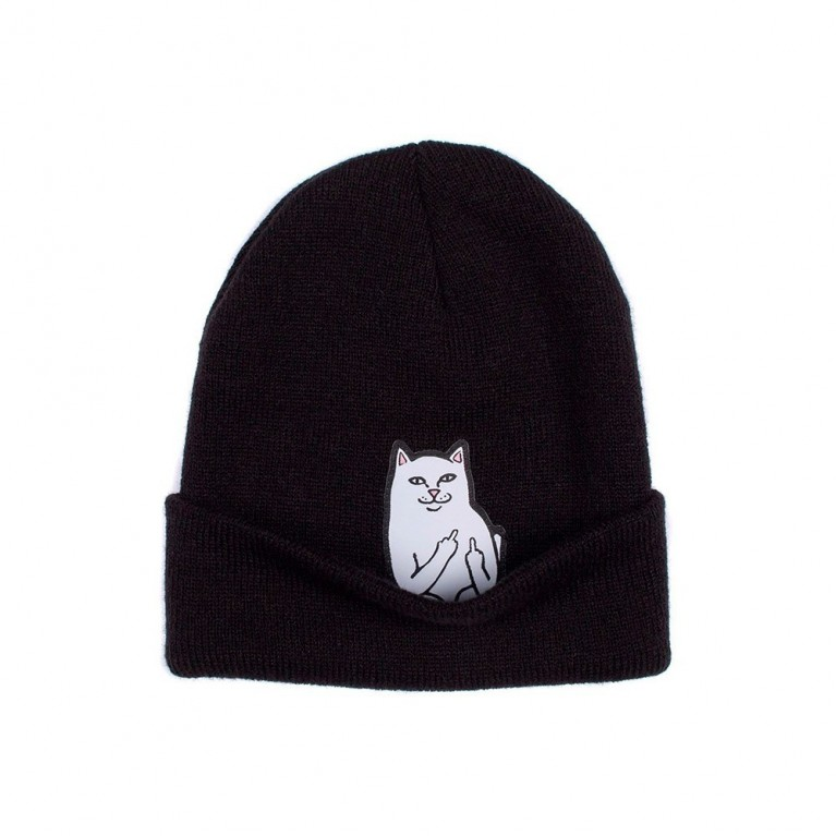 Шапка Ripndip lord nermal beanie black