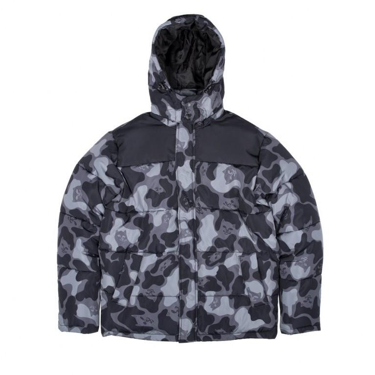 Куртка Ripndip Nerm Camo Puffer Jacket Blackout Camo