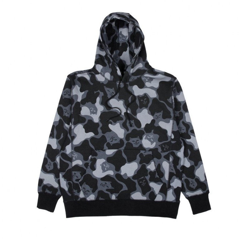 Толстовка Ripndip Nerm Camo Pullover Sweater Blackout