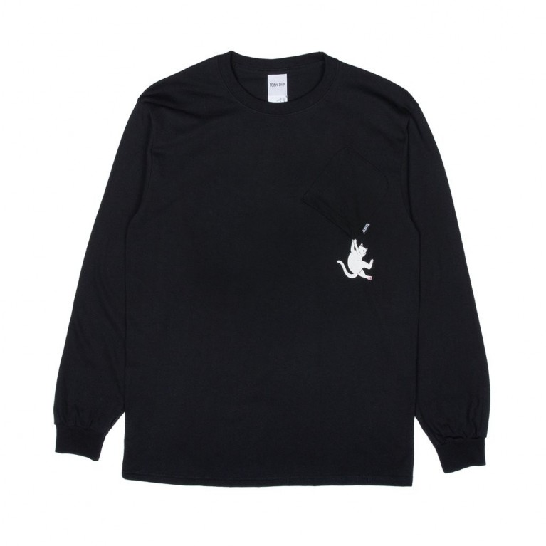 Лонгслив Ripndip Hang In There L/S Black