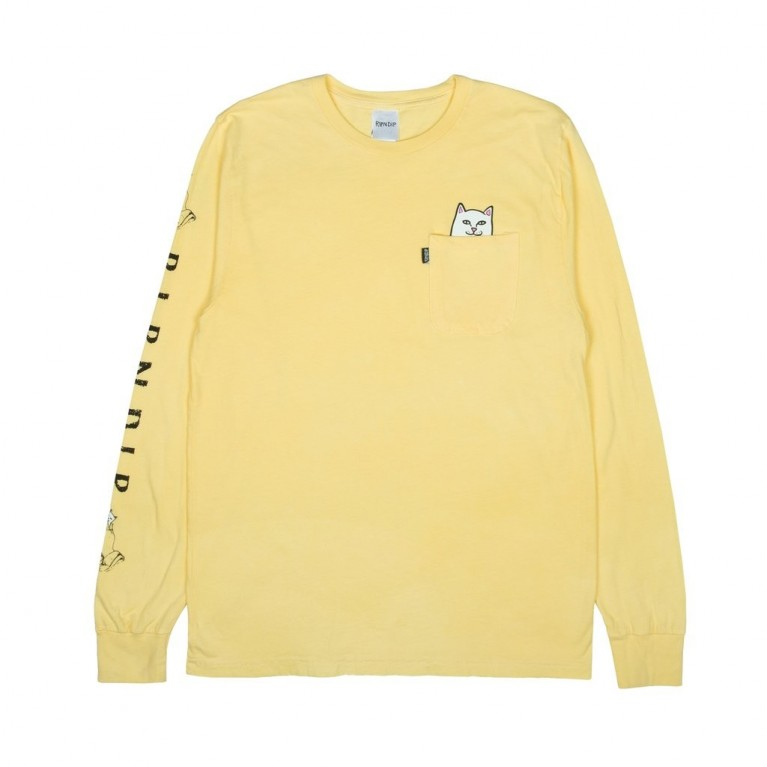 Лонгслив Ripndip Lord Nermal L/S Banana