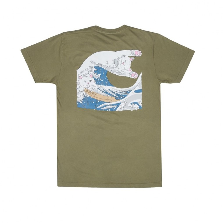 Футболка Ripndip Great Wave Tee Olive