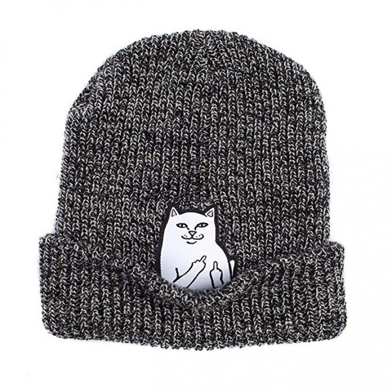 Шапка ripndip lord nermal knit beanie gray speckled