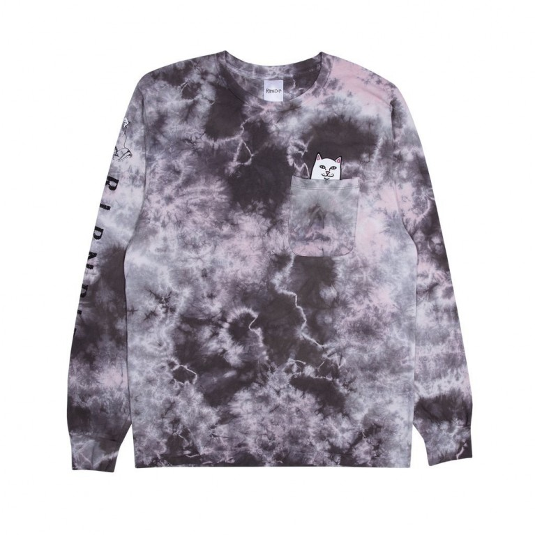Лонгслив Ripndip Lord Nermal L/S Light Pink Mineral Wash