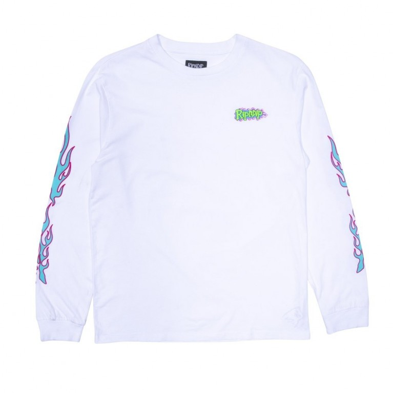 Лонслив Ripndip Flaming Hot LS White