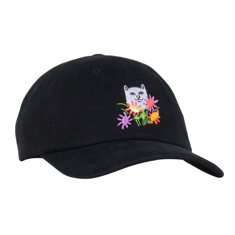 Кепка Ripndip Flowers For Bae Dad Hat Black