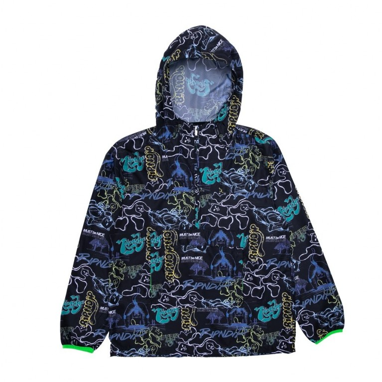 Анорак Ripndip Goalasso Packable Fanorak Jacket Black