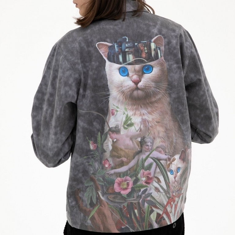 Куртка Ripndip Masterpiece Coach Jacket Grey Mineral Wash