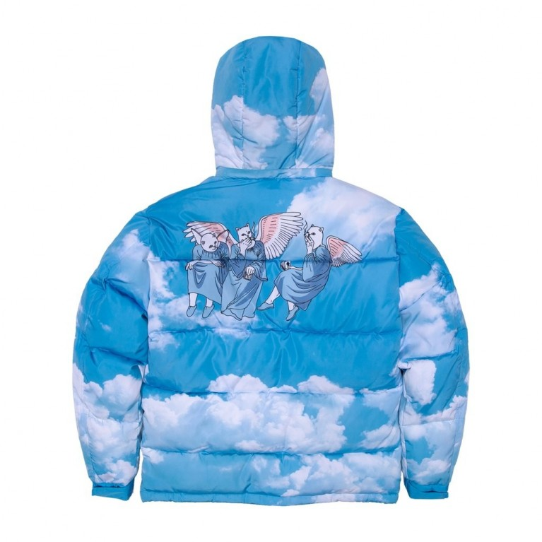 Куртка Ripndip Heaven And Hell Puffer Jacket Blue