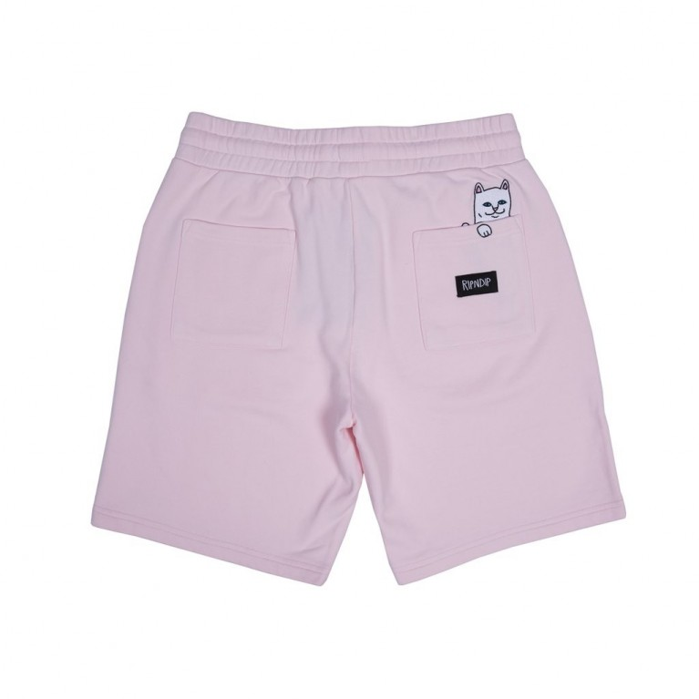 Шорты Ripndip Peek A Nermal Sweat Shorts Light Pink