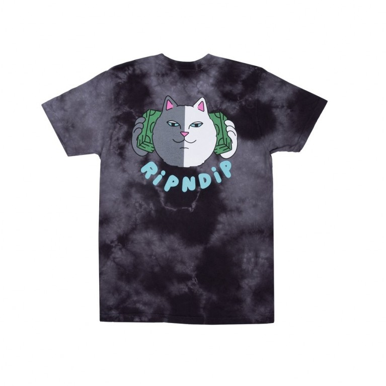 Футболка Ripndip Money Talks Tee Black Cloud Wash