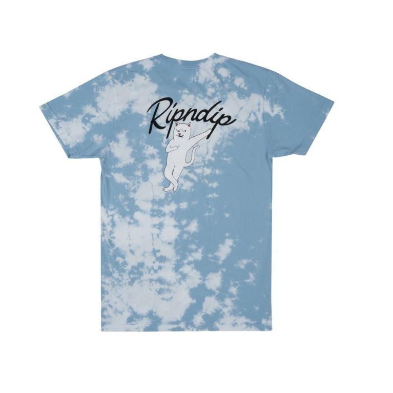 Футболка Ripndip Relax Tee Blue / White Cloud Wash