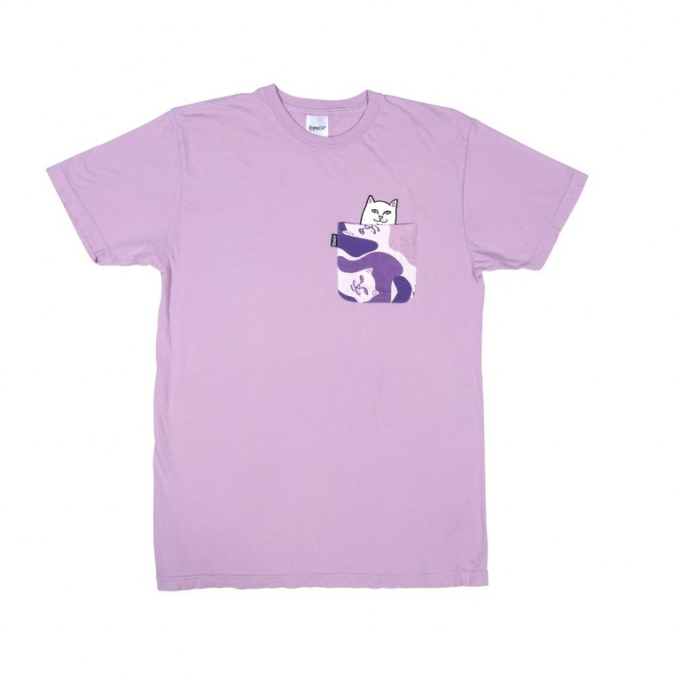 Футболка Ripndip Lord Nermal Camo Pocket Tee Purple camo
