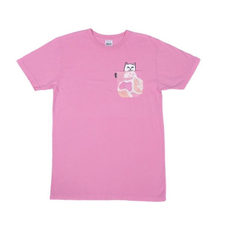 Футболка Ripndip Lord Nermal Camo Pocket Tee Pink camo