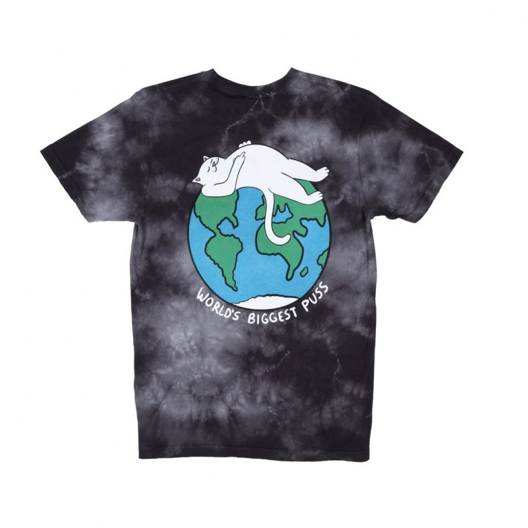 Футболка Ripndip Biggest Pussy Tee Black Acid Wash