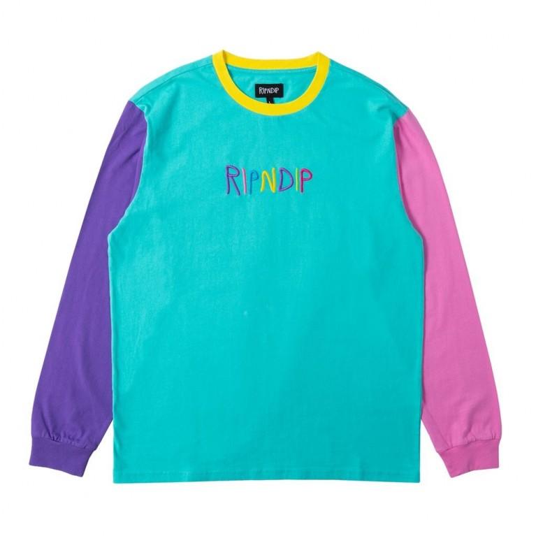 Лонгслив Ripndip Embroidered Logo LS Multi