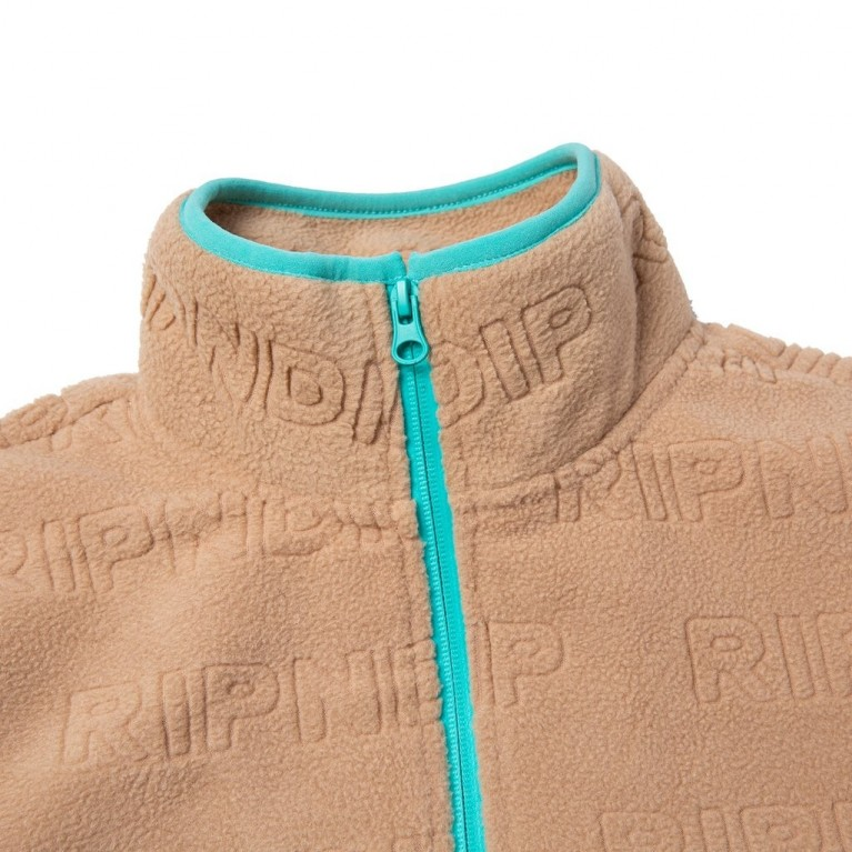 Кофта Ripndip Repeat Brushed Fleece Half Zip Sweater Natural