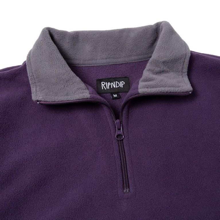Кофта Ripndip Peeking Nerm Brushed Fleece Half Zip Sweater Purple / Grey