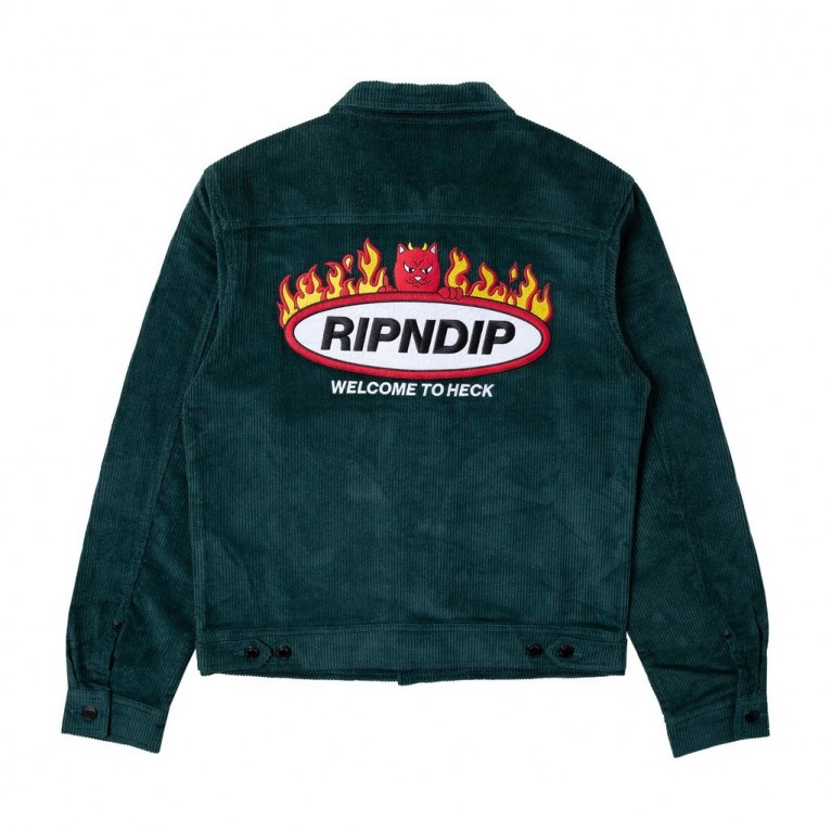 Куртка Ripndip Welcome To Heck Corduroy Jacket Hunter Green