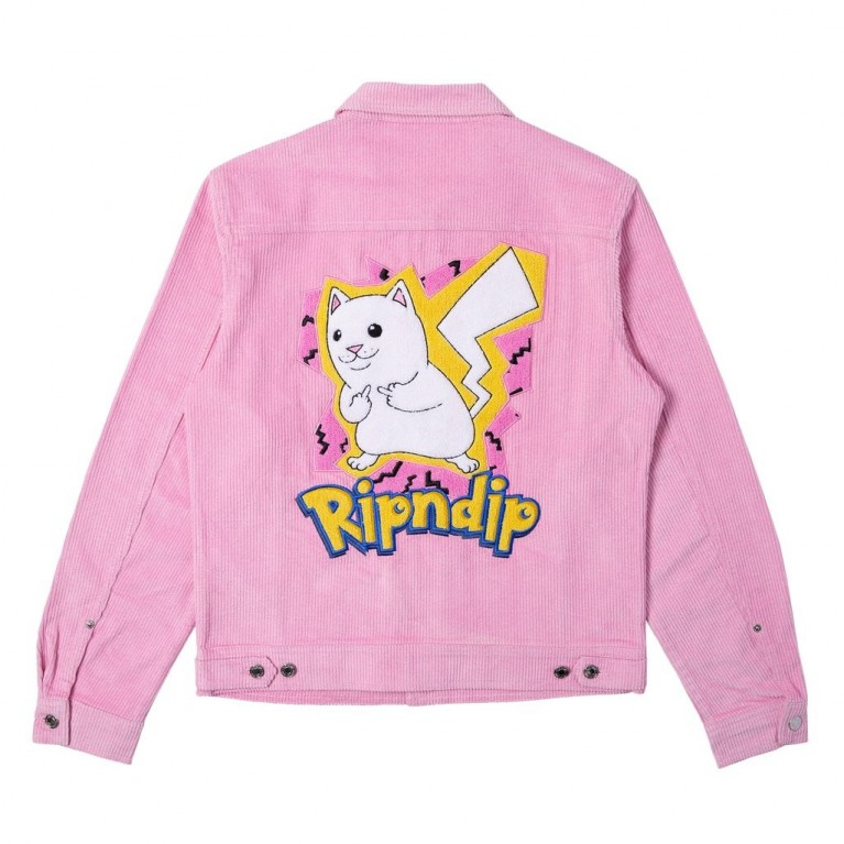 Куртка Ripndip Catch Em All Corduroy Jacket Pink