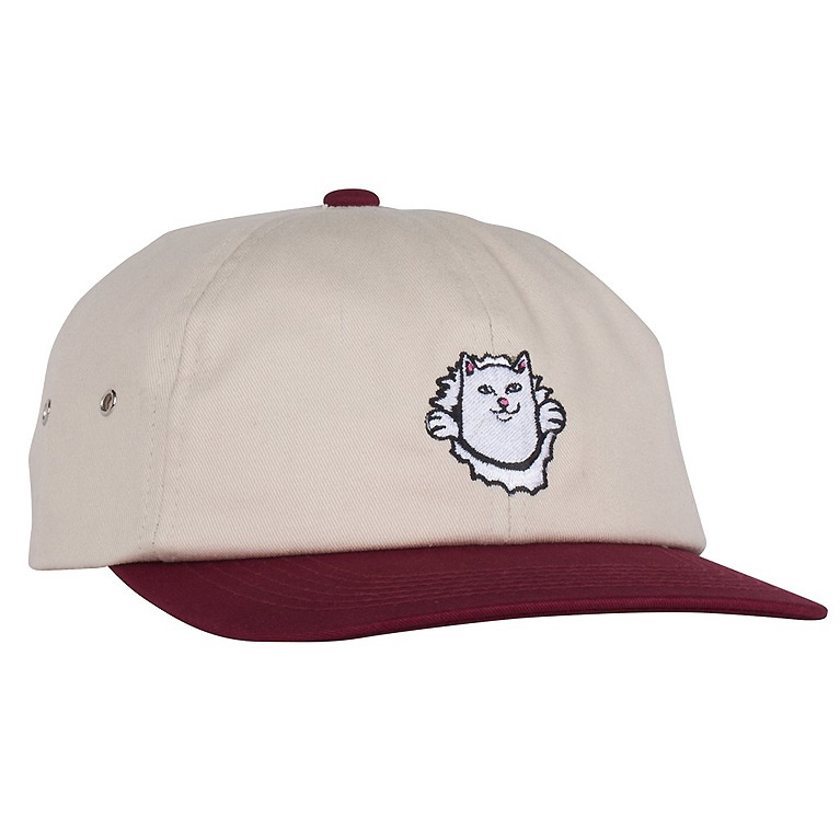Кепка Ripndip Nermamaniac 6 Panel Tan / Burgundy