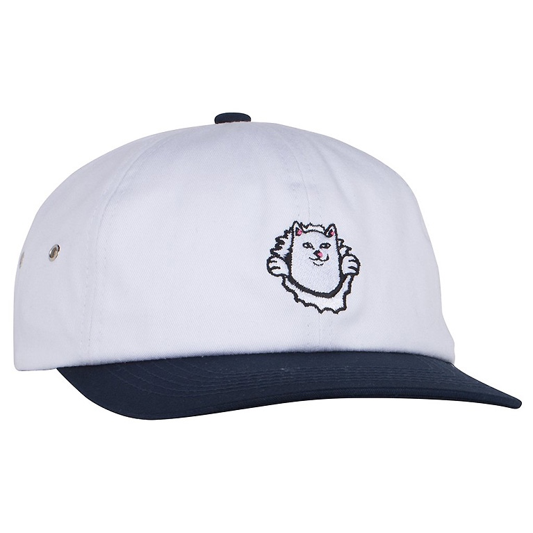 Кепка Ripndip Nermamaniac 6 Panel White / Navy