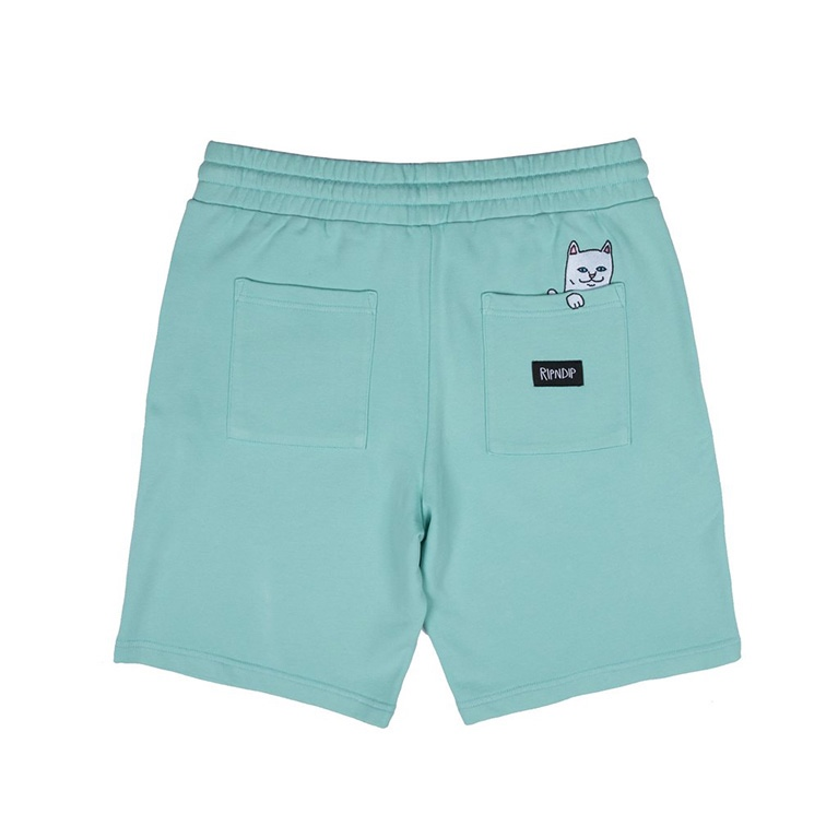 Шорты Ripndip Peek A Nerm Over Dye Sweat Shorts Mint