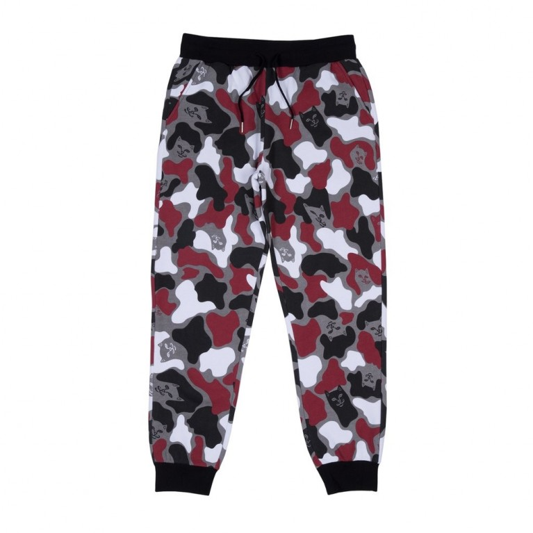Штаны Ripndip Nermal Camo Sweat Pants Red Camo