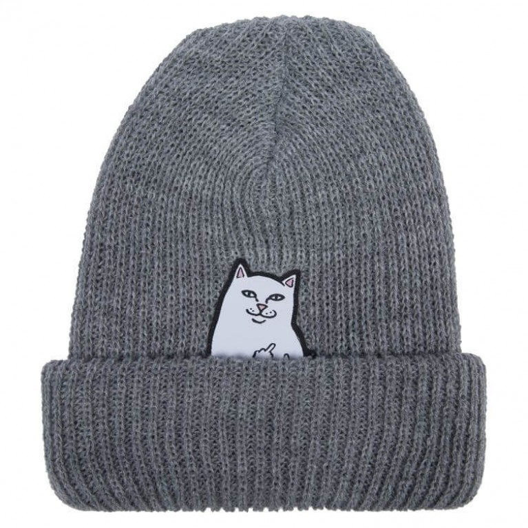 Шапка Ripndip Lord Nermal Rib Beanie Grey