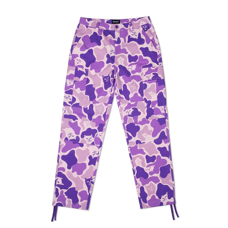 Штаны RIPNDIP Nermal Camo Cargo Pants Purple