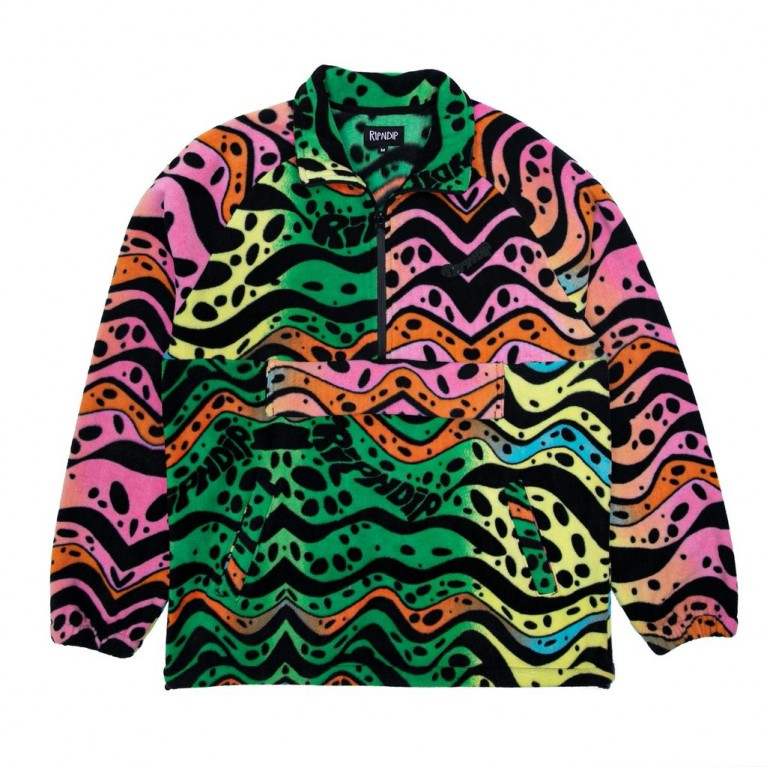 Куртка Ripndip Ripple Brushed Fleece Half Zip Jacket Multi