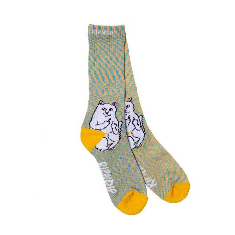Носки Ripndip Lord Nermal Socks Gold Rainbow