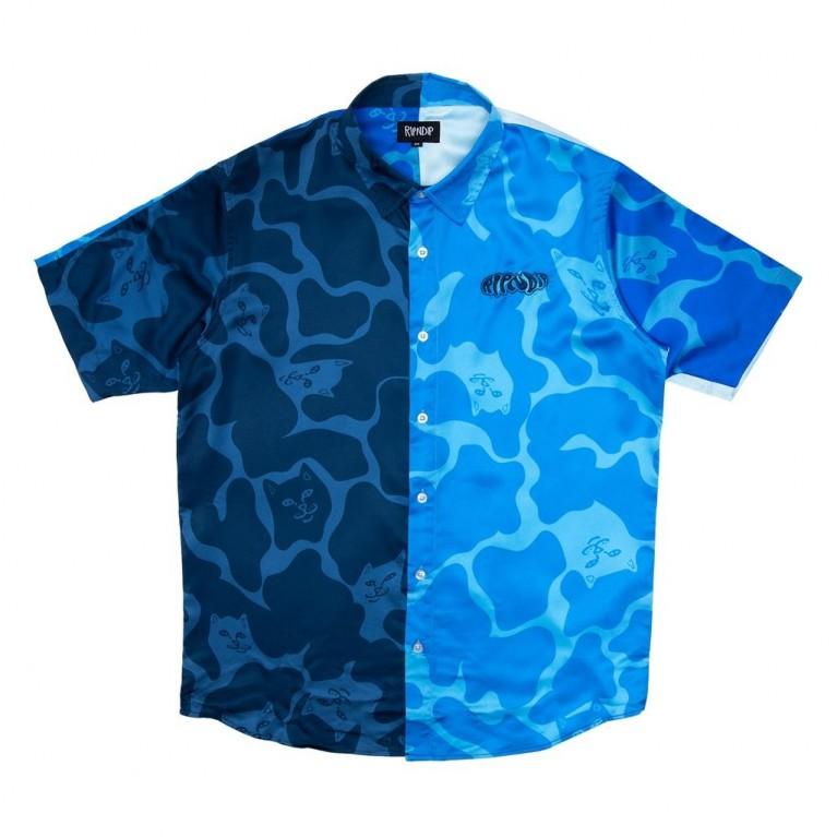 Рубашка Ripndip Soho Button Up Shirt Blue