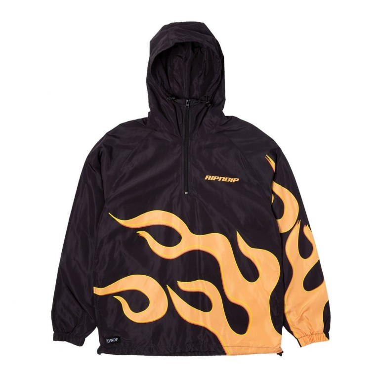 Анорак Ripndip Flaming Hot Anorak Black